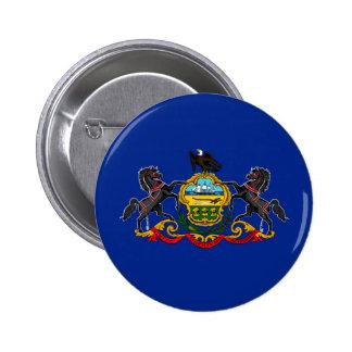 Diseño de la bandera del estado de Pennsylvania Pin Redondo 5 Cm
