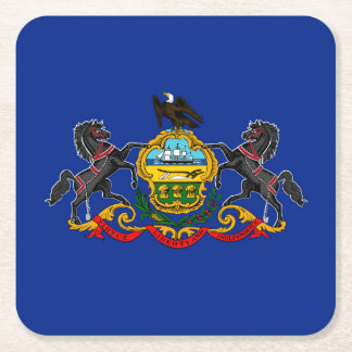 Diseño de la bandera del estado de Pennsylvania Posavaso Cuadrado De Cartón