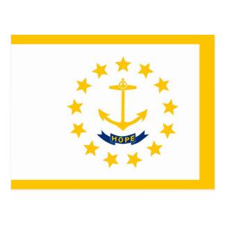 Diseño de la bandera del estado de Rhode Island Tarjeta Postal