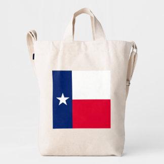 Diseño de la bandera del estado de Tejas Bolsa De Lona Duck