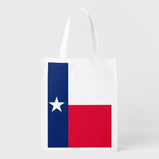 Diseño de la bandera del estado de Tejas Bolsas De La Compra