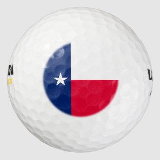 Diseño de la bandera del estado de Tejas Pack De Pelotas De Golf