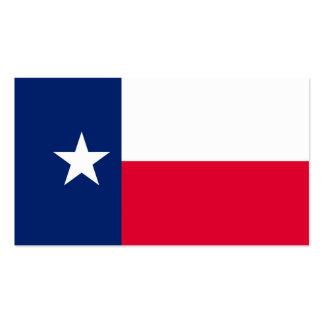 Diseño de la bandera del estado de Tejas Tarjetas De Visita