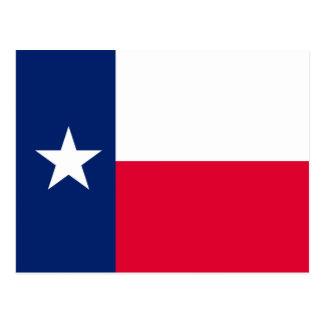 Diseño de la bandera del estado de Tejas Tarjetas Postales