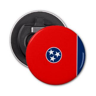 Diseño de la bandera del estado de Tennessee Abrebotellas Redondo