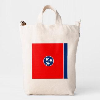 Diseño de la bandera del estado de Tennessee Bolsa De Lona Duck
