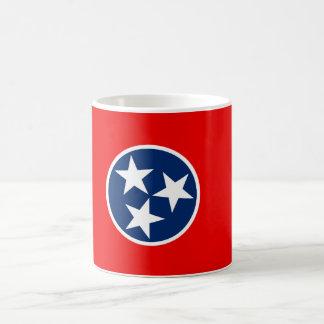 Diseño de la bandera del estado de Tennessee Taza De Café