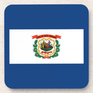 Diseño de la bandera del estado de Virginia Posavasos