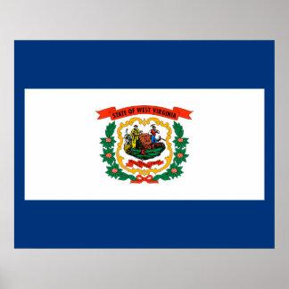 Diseño de la bandera del estado de Virginia Póster