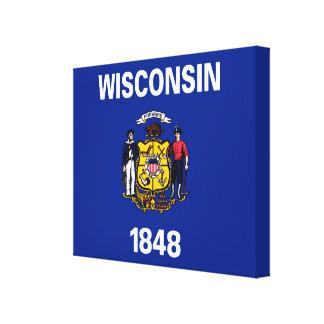Diseño de la bandera del estado de Wisconsin Impresión En Lienzo Estirada