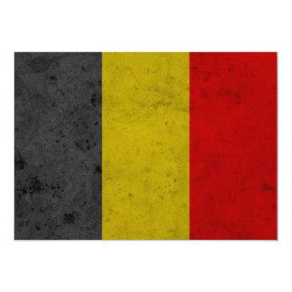 """Diseño de la bandera del Grunge de Bélgica Invitación 5"""" X 7"""""""