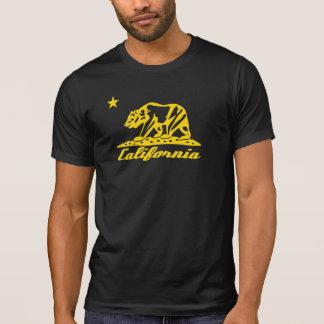 Diseño de la bandera del oso de California Playera