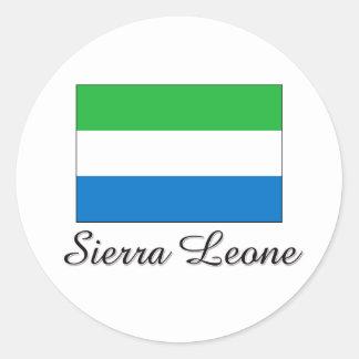 Diseño de la bandera del Sierra Leone Pegatina Redonda