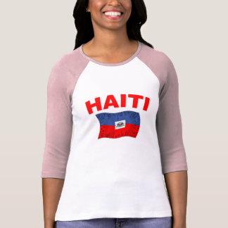 Diseño de la bandera del terremoto de Haití T-shirt
