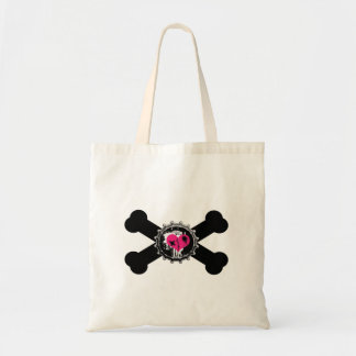 diseño de la bandera pirata del rosa del bottlecap bolsa de mano