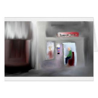 Diseño de la barbería tarjeta de felicitación