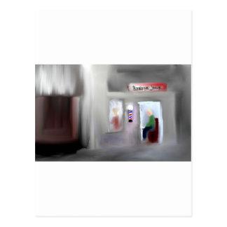 Diseño de la barbería tarjetas postales