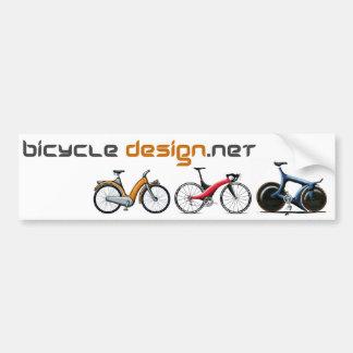 Diseño de la bicicleta pegatina para auto