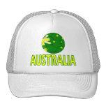 Diseño de la bola de Australia Gorras