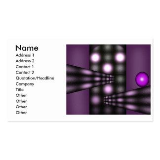 Diseño de la bola tarjetas de visita