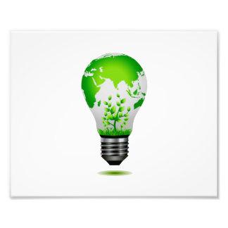 diseño de la bombilla con el globo y las plantas e arte con fotos