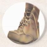 Diseño de la bota del ejército posavaso para bebida