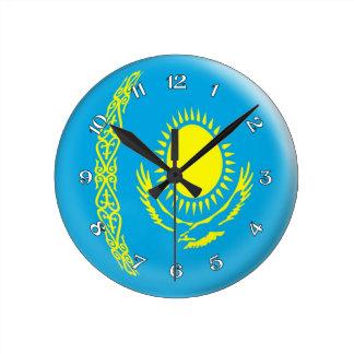Diseño de la burbuja de la bandera de Kazajistán d Reloj Redondo Mediano
