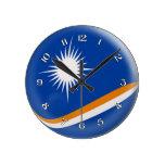 Diseño de la burbuja de la bandera de Marshall Isl Relojes De Pared