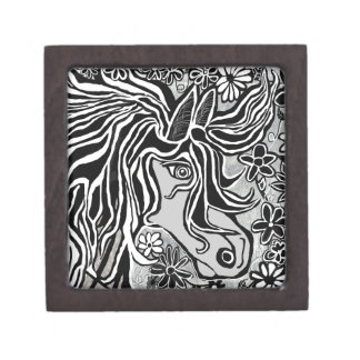 diseño de la cabeza de caballo con adorno floral cajas de regalo de calidad