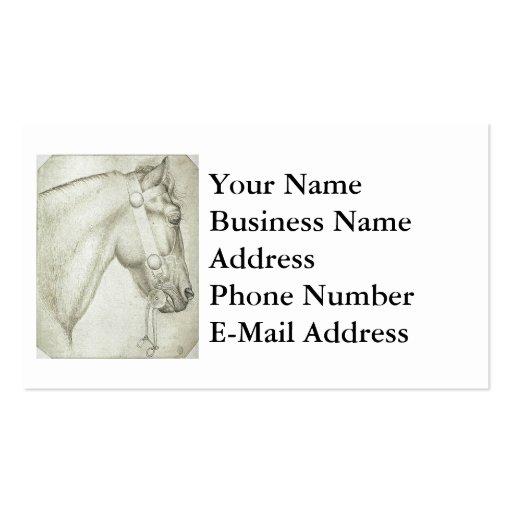 Diseño de la cabeza de caballo tarjetas de visita