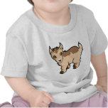 Diseño de la cabra camisetas