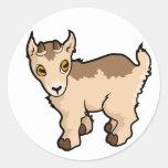 Diseño de la cabra etiquetas redondas