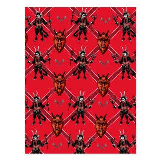 Diseño de la caja de Krampus Tarjeta Postal