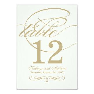 Diseño de la caligrafía del oro de la tarjeta el | invitación 12,7 x 17,8 cm