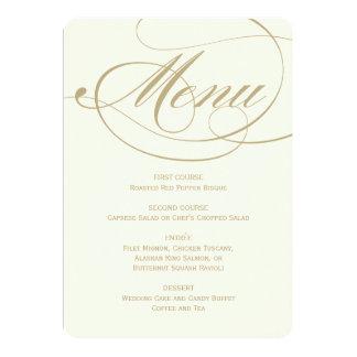 Diseño de la caligrafía del oro de la tarjeta el   invitación 12,7 x 17,8 cm