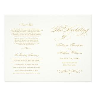 """Diseño de la caligrafía del oro de los programas folleto 8.5"""" x 11"""""""