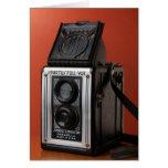 Diseño de la cámara del vintage tarjeta de felicitación