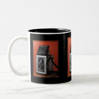 Diseño de la cámara del vintage taza dos tonos