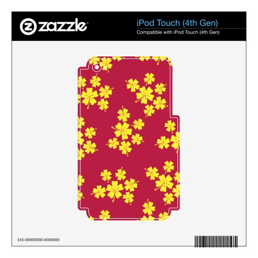 DISEÑO DE LA CAMISA DE HAWAIANA SKINS PARA iPod TOUCH 4G