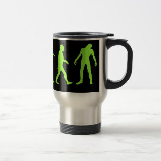 Diseño de la camiseta de la evolución del zombi taza de viaje de acero inoxidable
