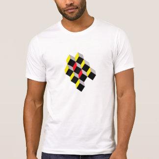 diseño de la camiseta de los cubos