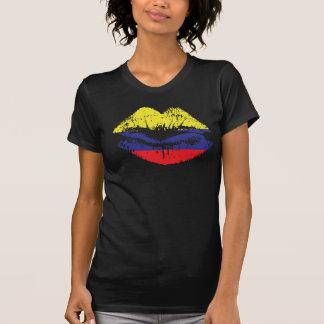 Diseño de la camiseta de los labios de Colombia pa