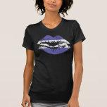 Diseño de la camiseta de los labios de Honduras pa
