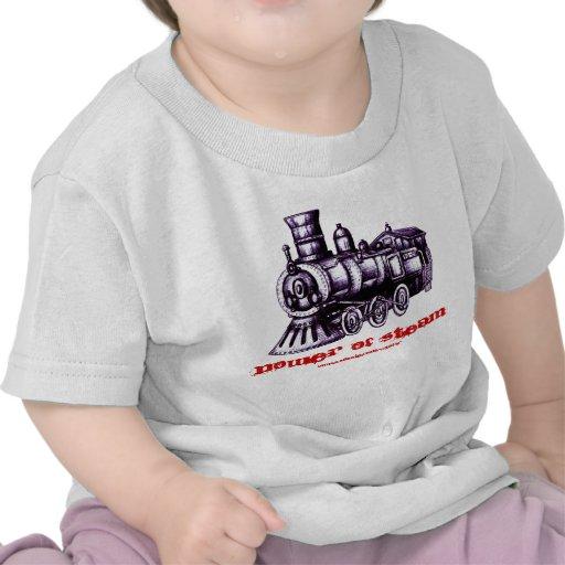Diseño de la camiseta del bebé del motor de vapor