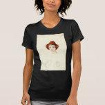 Diseño de la camiseta del bosquejo del gorra de