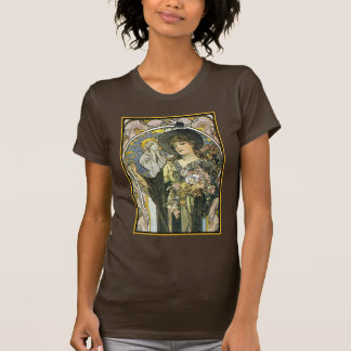 Diseño de la camiseta del vintage de las mujeres - playeras