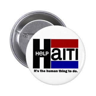 DISEÑO de la CARIDAD de Haití de la ayuda Pin Redondo 5 Cm