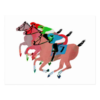 Diseño de la carrera de caballos del personalizar postal