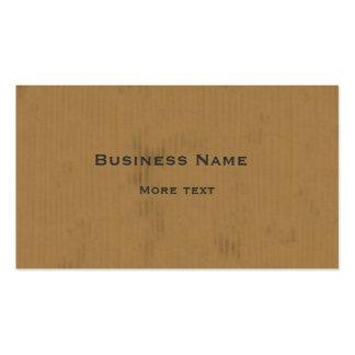 Diseño de la cartulina tarjetas de visita