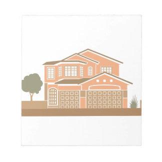 Diseño de la casa blocs de papel